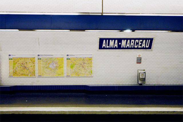 Alma-Marceau Station © Dennis Mojado