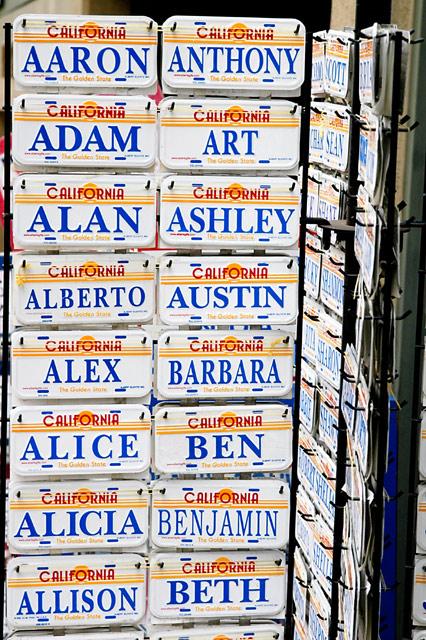 California Name Plates © Dennis Mojado