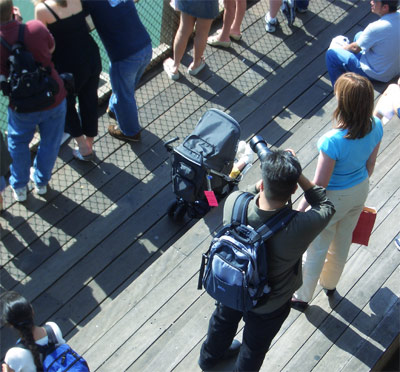DM shooting at Pier 39, San Francisco, photo by G. Vandelle.