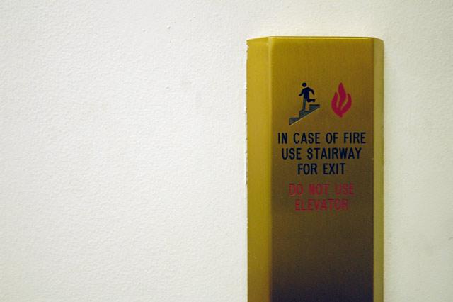 In Case of Fire... © Dennis Mojado