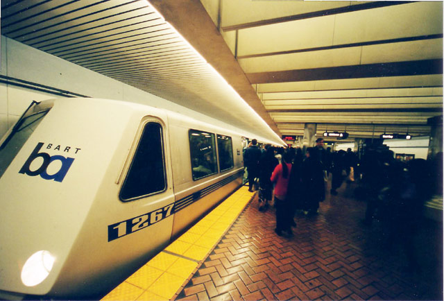 Long Pointy BART train © Dennis Mojado