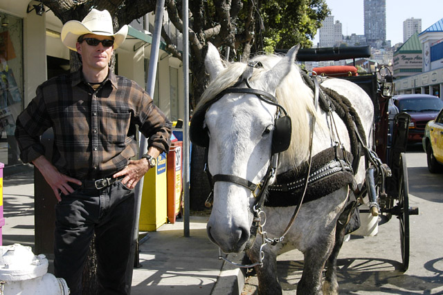 SF Cowboy and Steed © Dennis Mojado