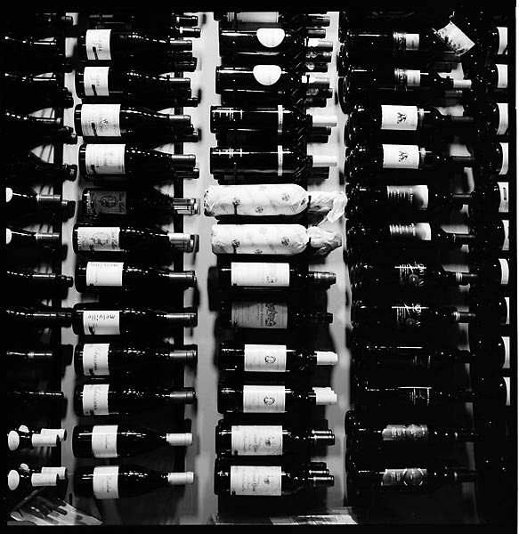 Wine Rack at Vino Venue © Dennis Mojado